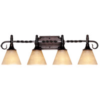 Essex 4 Light 28 inch English Bronze Bath Bar Wall Light in Cream Scavo