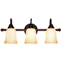 Sutton Place 3 Light 24 inch English Bronze Bath Bar Wall Light in Cream Faux Marble