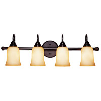 Sutton Place 4 Light 31 inch English Bronze Bath Bar Wall Light in Cream Faux Marble