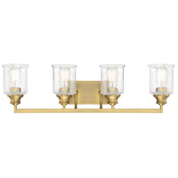Savoy House 8-1972-4-322 Hampton 4 Light 32 inch Warm Brass Bath Light Wall Light