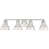 Grant 4 Light 38 inch Satin Nickel Bath Bar Wall Light
