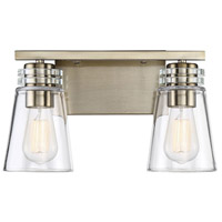 Savoy House 8-2148-2-127 Brannon 2 Light 14 inch Noble Brass Bath Bar Wall Light