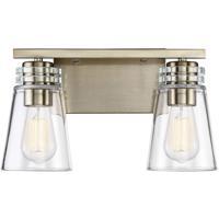 Savoy House 8-2148-2-127 Brannon 2 Light 14 inch Noble Brass Bath Bar Wall Light
