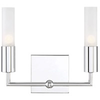 Savoy House 8-2172-2-11 Deacon 2 Light 11 inch Polished Chrome Bath Bar Wall Light