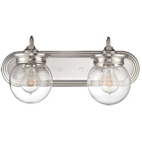 Savoy House 8-232-2-109 Downing 2 Light 18 inch Polished Nickel Bath Bar Wall Light