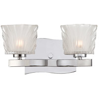 Carina 2 Light 13 inch Chrome Vanity Light Wall Light