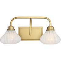 Savoy House 8-2410-2-322 Darlington 2 Light 18 inch Warm Brass Bath Light Wall Light