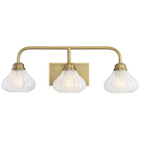 Savoy House 8-2410-3-322 Darlington 3 Light 26 inch Warm Brass Bath Light Wall Light