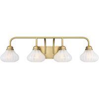 Savoy House 8-2410-4-322 Darlington 4 Light 34 inch Warm Brass Bath Light Wall Light