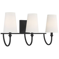 Savoy House 8-2542-3-89 Cameron 3 Light 24 inch Matte Black Bath Light Wall Light alternative photo thumbnail