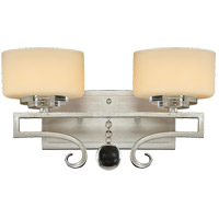 Savoy House 8-257-2-307 Rosendal 2 Light 15 inch Silver Sparkle Bath Bar Wall Light in Pale Cream