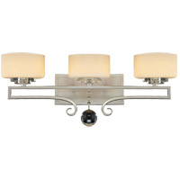 Savoy House 8-257-3-307 Rosendal 3 Light 25 inch Silver Sparkle Bath Bar Wall Light in Pale Cream
