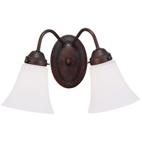 Brighton 2 Light 9 inch English Bronze Bath Bar Wall Light