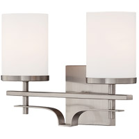 Colton 2 Light 14 inch Satin Nickel Bath Bar Wall Light