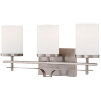Colton 3 Light 21 inch Satin Nickel Bath Bar Wall Light