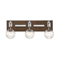 Savoy House 8-3405-3-73 Barfield LED 20 inch Polished Nickel with Wood accents Bath Bar Wall Light