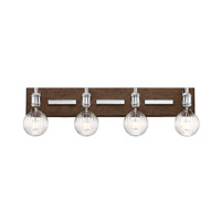 Savoy House 8-3405-4-73 Barfield LED 28 inch Polished Nickel with Wood accents Bath Bar Wall Light in 4