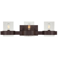 Savoy House 8-3512-3-129 Brione 3 Light 24 inch Espresso Bath Bar Wall Light in Hammered photo thumbnail