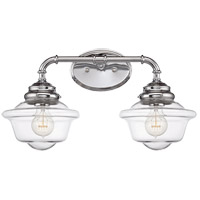 Fairfield 2 Light 20 inch Chrome Bath Bar Wall Light in Clear