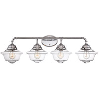 Fairfield 4 Light 35 inch Chrome Bath Bar Wall Light in Clear