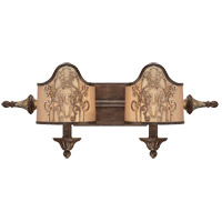 Savoy House Windsor 2 Light Vanity Light in Fiesta Bronze with Gold Highlights 8-3954-2-124