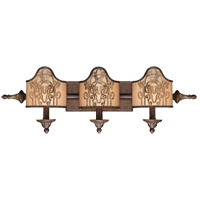 Savoy House Windsor 3 Light Vanity Light in Fiesta Bronze with Gold Highlights 8-3954-3-124