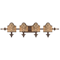 Savoy House Windsor 4 Light Vanity Light in Fiesta Bronze with Gold Highlights 8-3954-4-124