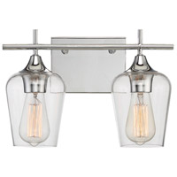 Savoy House Octave 2 Light Bath Bar in Polished Chrome 8-4030-2-11