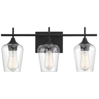 Savoy House 8-4030-3-BK Octave 3 Light 21 inch Black Bath Bar Wall Light