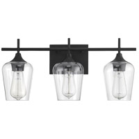 Savoy House 8-4030-3-BK Octave 3 Light 21 inch Black Bath Bar Wall Light alternative photo thumbnail