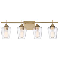 Octave 4 Light 29 inch Warm Brass Bath Bar Wall Light