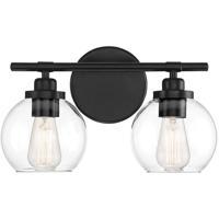Savoy House 8-4050-2-BK Carson 2 Light 14 inch Matte Black Bath Light Wall Light