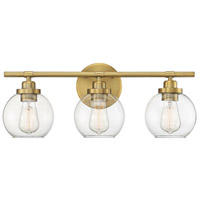 Savoy House 8-4050-3-322 Carson 3 Light 23 inch Warm Brass Bath Light Wall Light