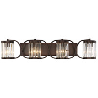 Nora 4 Light 36 inch Burnished Bronze Bath Bar Wall Light