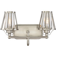 Caroll 2 Light 16 inch Satin Nickel Bath Bar Wall Light