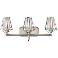 Caroll 3 Light 23 inch Satin Nickel Bath Bar Wall Light