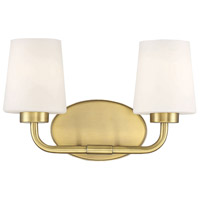 Savoy House 8-4090-2-322 Capra 2 Light 15 inch Warm Brass Bath Light Wall Light