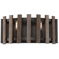 Santiago 2 Light 17 inch Sapele Bath Bar Wall Light