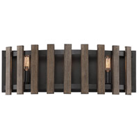Santiago 3 Light 23 inch Sapele Bath Bar Wall Light