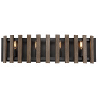 Santiago 4 Light 28 inch Sapele Bath Bar Wall Light