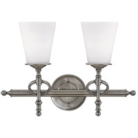 Savoy House Foxcroft 2 Light Vanity Light in Brushed Pewter 8-4155-2-187