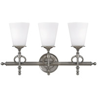 Savoy House Foxcroft 3 Light Vanity Light in Brushed Pewter 8-4155-3-187