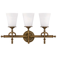 Savoy House Foxcroft 3 Light Vanity Light in Aged Brass 8-4155-3-291