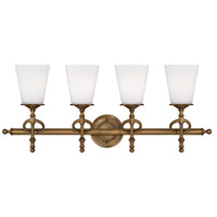 Savoy House Foxcroft 4 Light Vanity Light in Aged Brass 8-4155-4-291