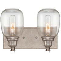 Orsay 2 Light 12 inch Industrial Steel Bath Wall Light in Clear