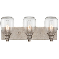 Orsay 3 Light 20 inch Industrial Steel Bath Wall Light in Clear