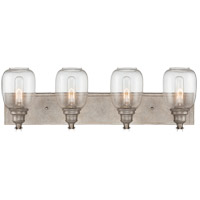 Orsay 4 Light 28 inch Industrial Steel Bath Wall Light in Clear