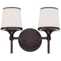 Hagen 2 Light 13 inch English Bronze Bath Bar Wall Light