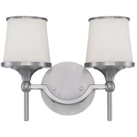 Hagen 2 Light 13 inch Satin Nickel Bath Bar Wall Light
