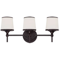 Hagen 3 Light 21 inch English Bronze Bath Bar Wall Light